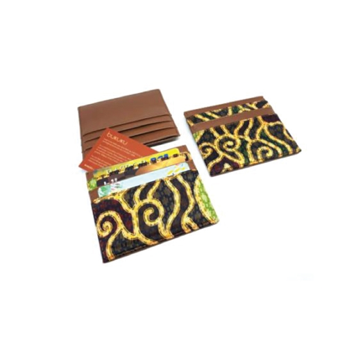 Card Holder Kulit dan Batik 2 sisi